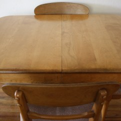 Heywood Wakefield Dining Table And Chairs Chair Ottoman Slipcovers Pottery Barn Mid Century Modern Set  Style