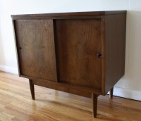 Mid Century Modern Cabinets with Sliding Doors | Picked ...