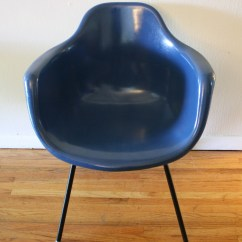 Krueger Folding Chairs Rocker Base For Chair Mid Century Modern Cobalt Blue Shell Picked Vintage