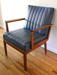 Mid Century Modern Retro Wood Frame Chair | Picked Vintage