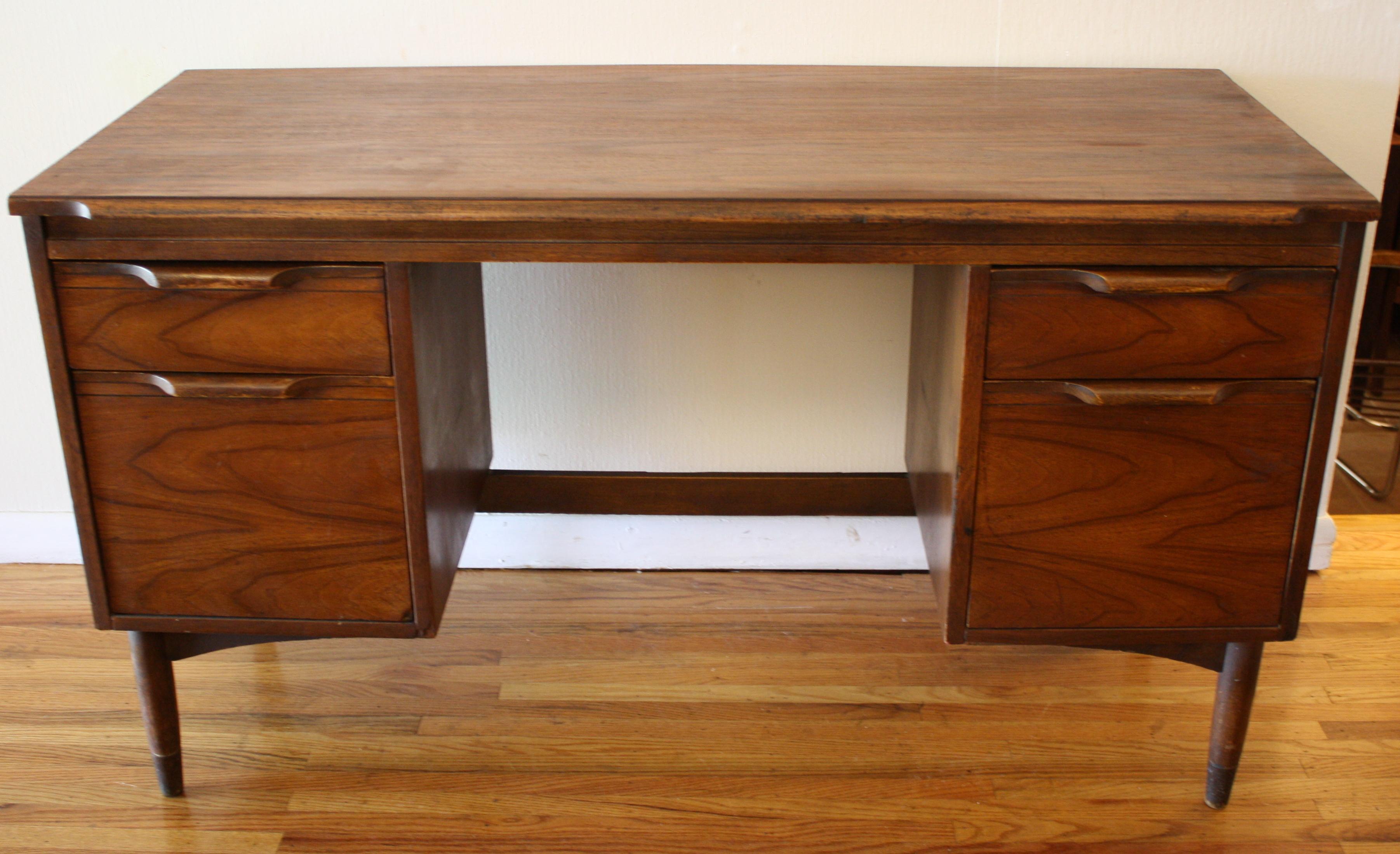 mcm wood desk  Picked Vintage