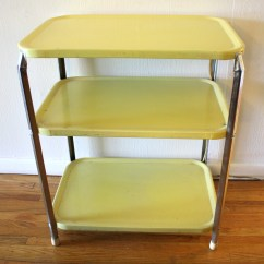 Herman Miller Chairs Vintage Colorful Fabric Side Retro 3 Tier Shelf Metal Carts | Picked