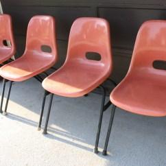 Krueger Folding Chairs Chaise Lounge Chair Outdoor Mid Century Modern Fiberglass  Picked