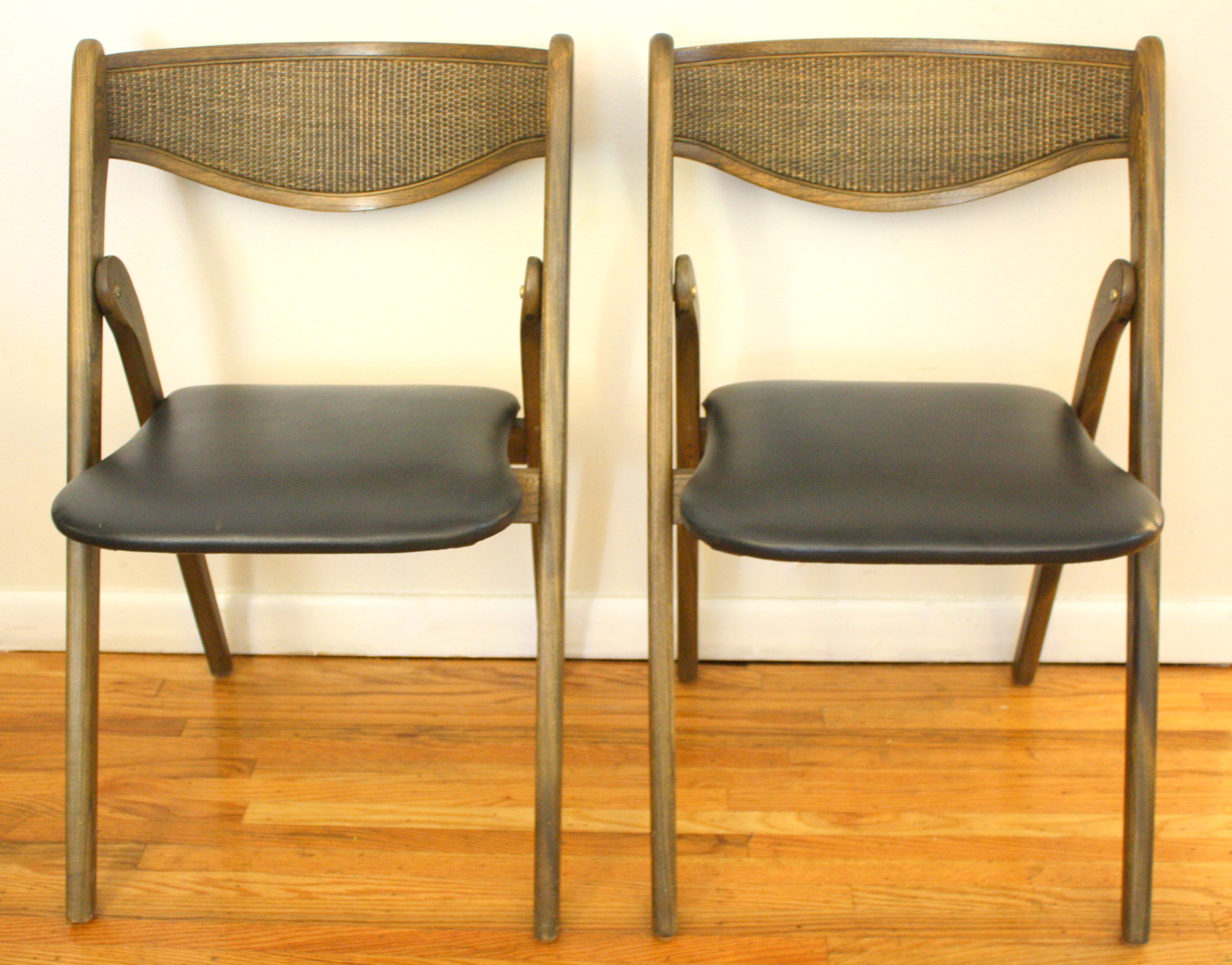 coronet folding chairs table set mid century modern by picked vintage