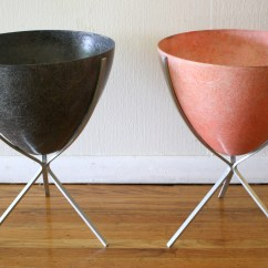 Herman Miller Chairs Vintage Rolling For Kitchen Mid Century Modern Eames Style Fiberglass Bullet Planters | Picked