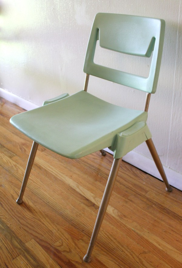 Mid Century Modern Stacking Chairs In Aqua Picked Vintage