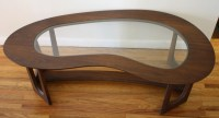 Mid Century Modern Kidney Shaped Coffee Table | Picked Vintage