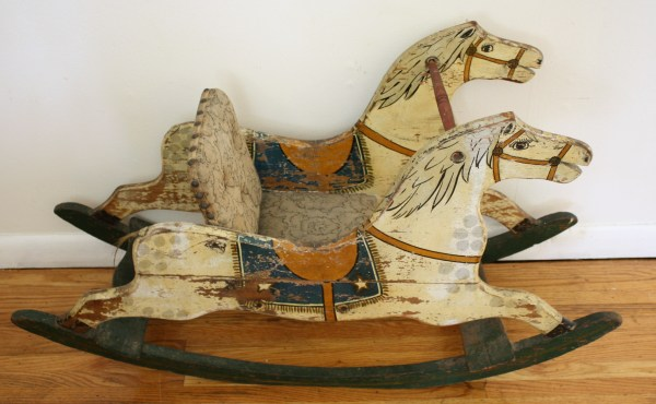 Antique Rocking Horse With Original Patina Picked Vintage