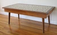 Mid Century Modern Tile Top Coffee Table | Picked Vintage