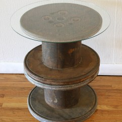 Spool Chair For Sale Renting Tables And Chairs Antique Industrial Mini Side Table Picked Vintage