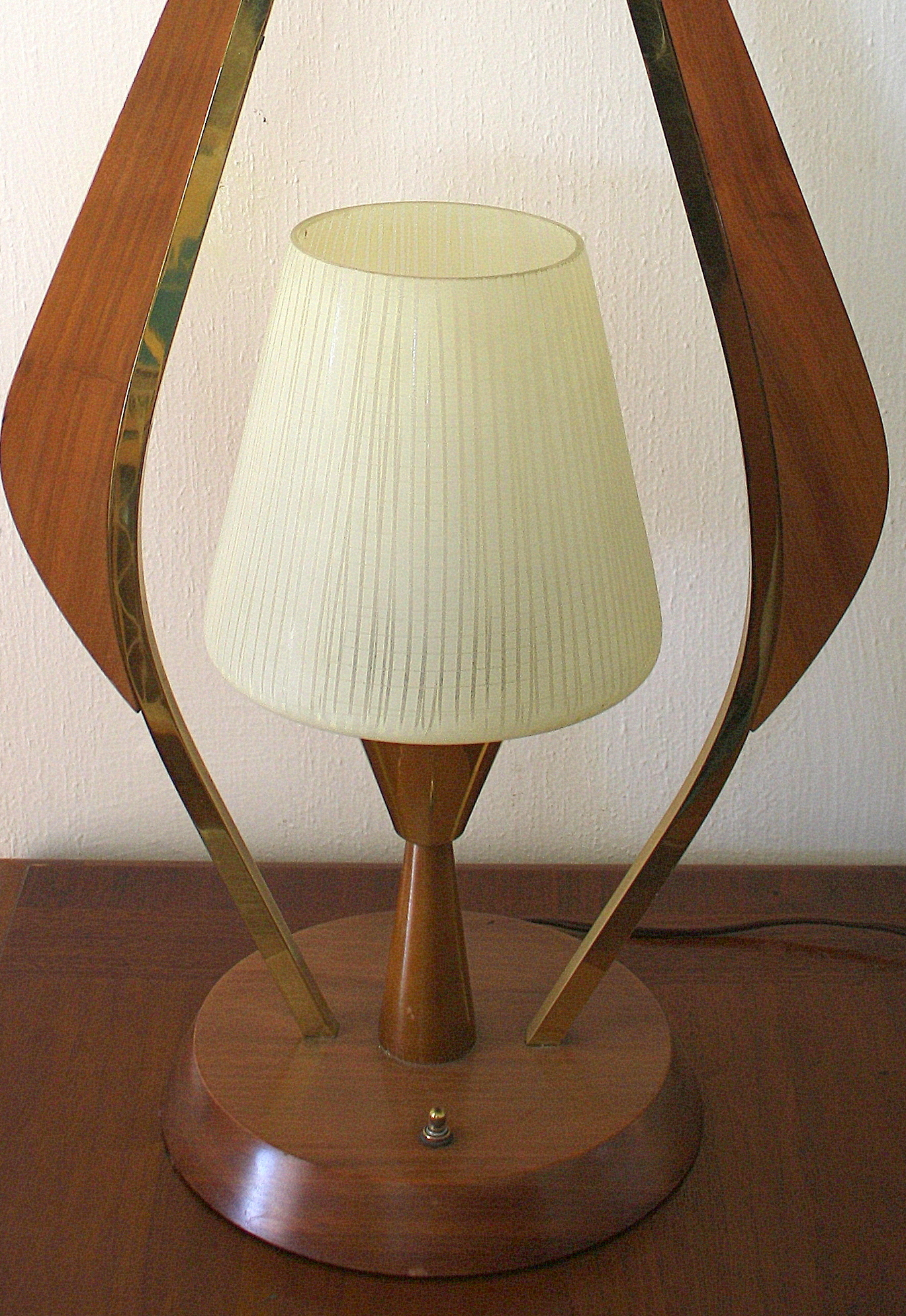 herman miller chairs vintage computer chair philippines mid century modern teak and brass table lamp | picked