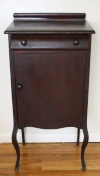 Antique Mahogany Empire Record Cabinet   Picked Vintage