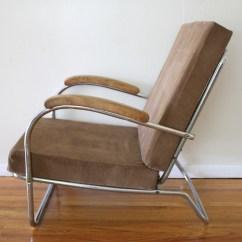 Retro Chrome Chairs Rocking Chair Cushions Kohls Mid Century Modern Lounge Wolfgang Hoffman Style Art Deco 3