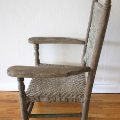 Folding Chair Carts Tullsta Cover Gray Antique Primitive Arm | Picked Vintage