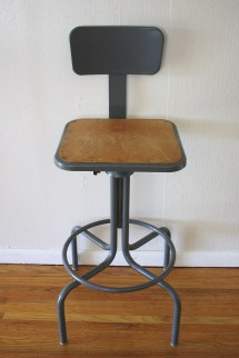 Industrial Drafting Stool 4 Picked Vintage