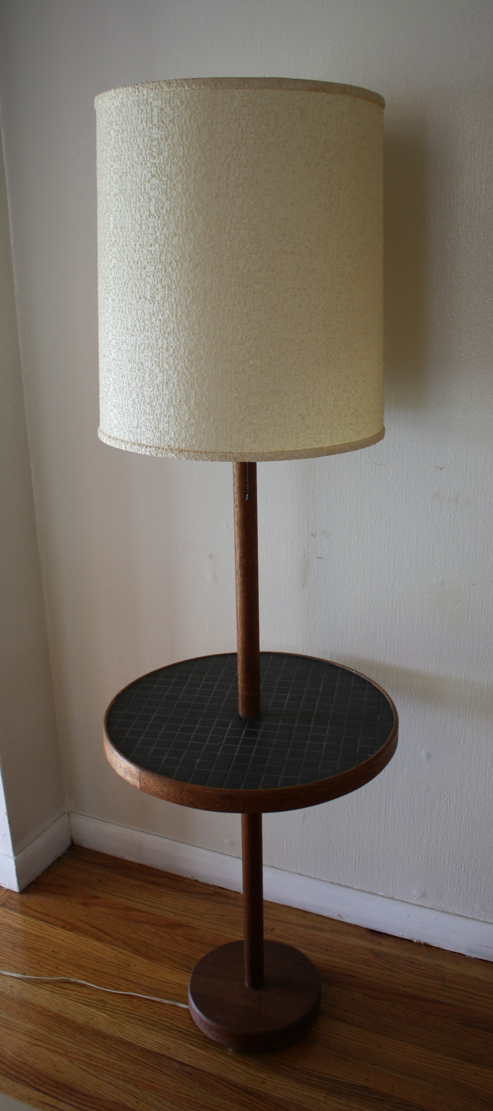 Mid Century Modern Floor Lamps with Tile Top Tables