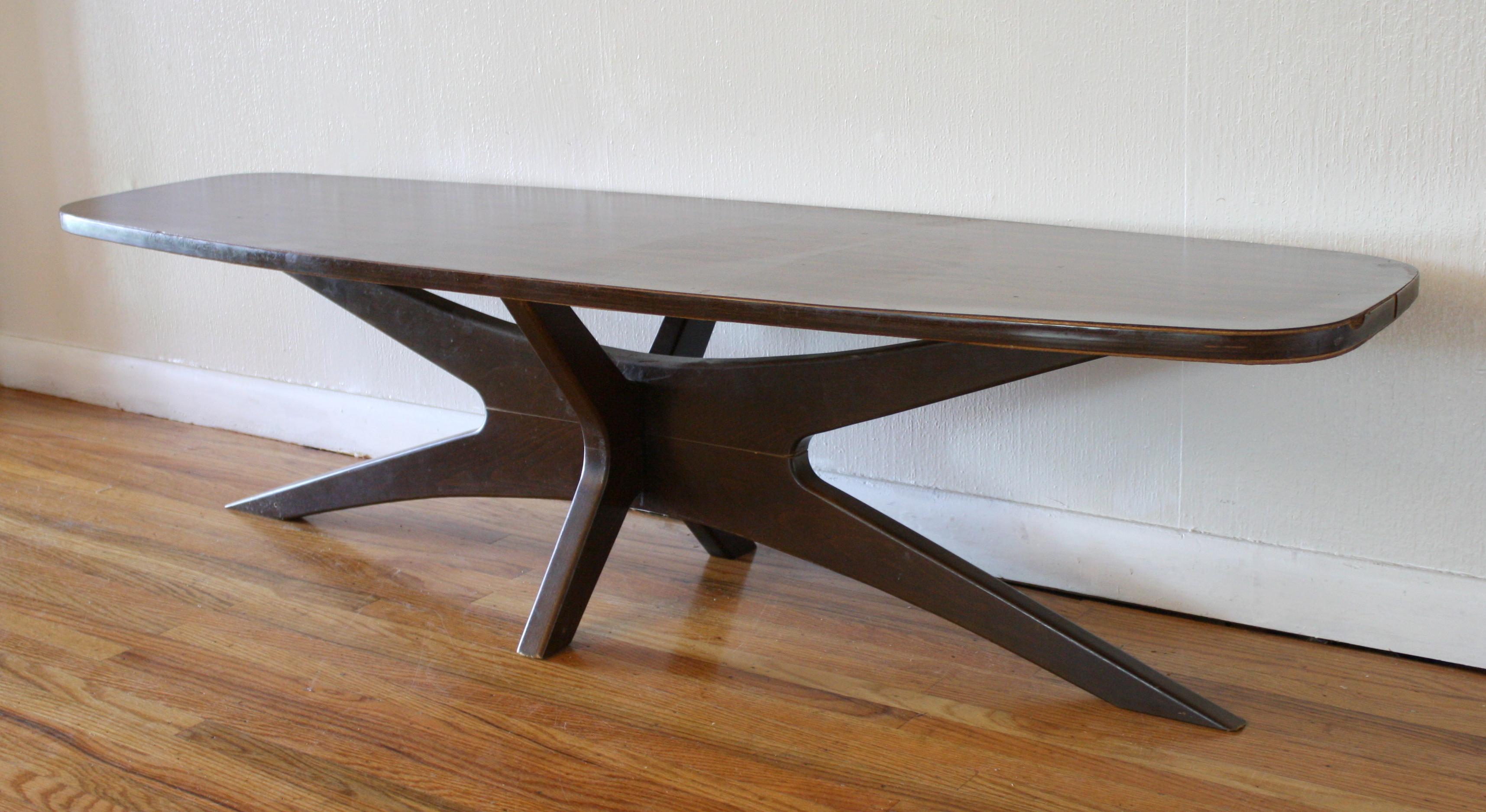 Mid Century Modern Surfboard Coffee Tables  Picked Vintage