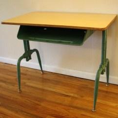 Vintage School Desk Chair Combo Good Chairs Antique Value Hostgarcia