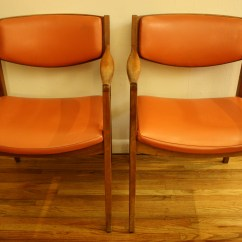 Orange Chair Salon Swing Canopy Frame Mid Century Modern Gunlocke Chairs Picked Vintage Arm 2