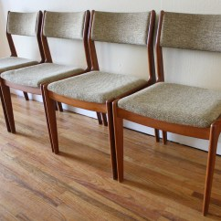 Danish Dining Chair Contemporary Swivel Chairs Set Of 4 Mid Century Modern Picked