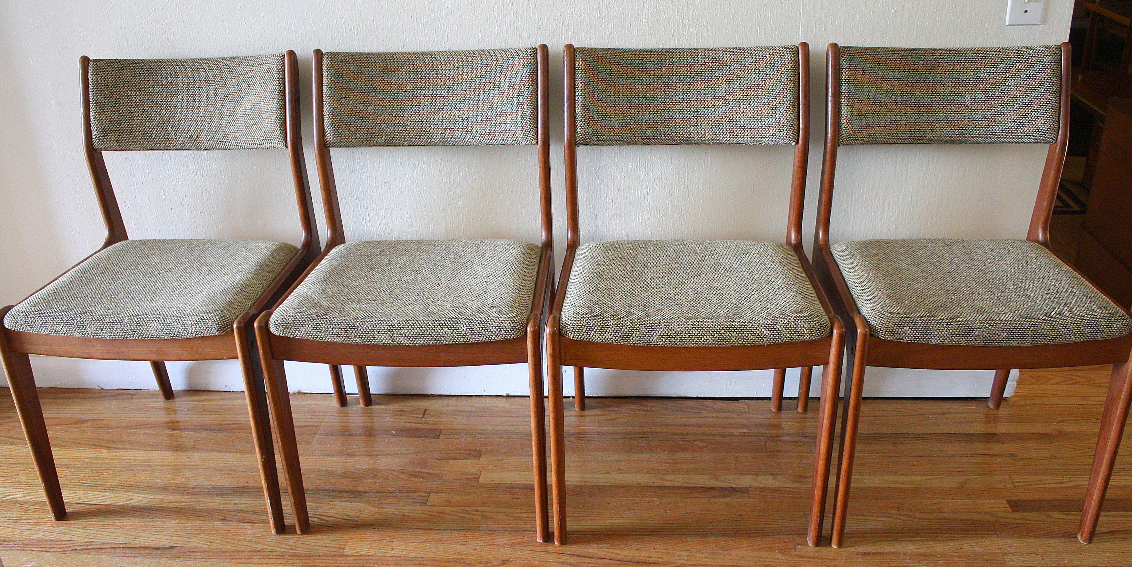 danish dining chair leg extenders lowes set of 4 mid century modern chairs picked vintage