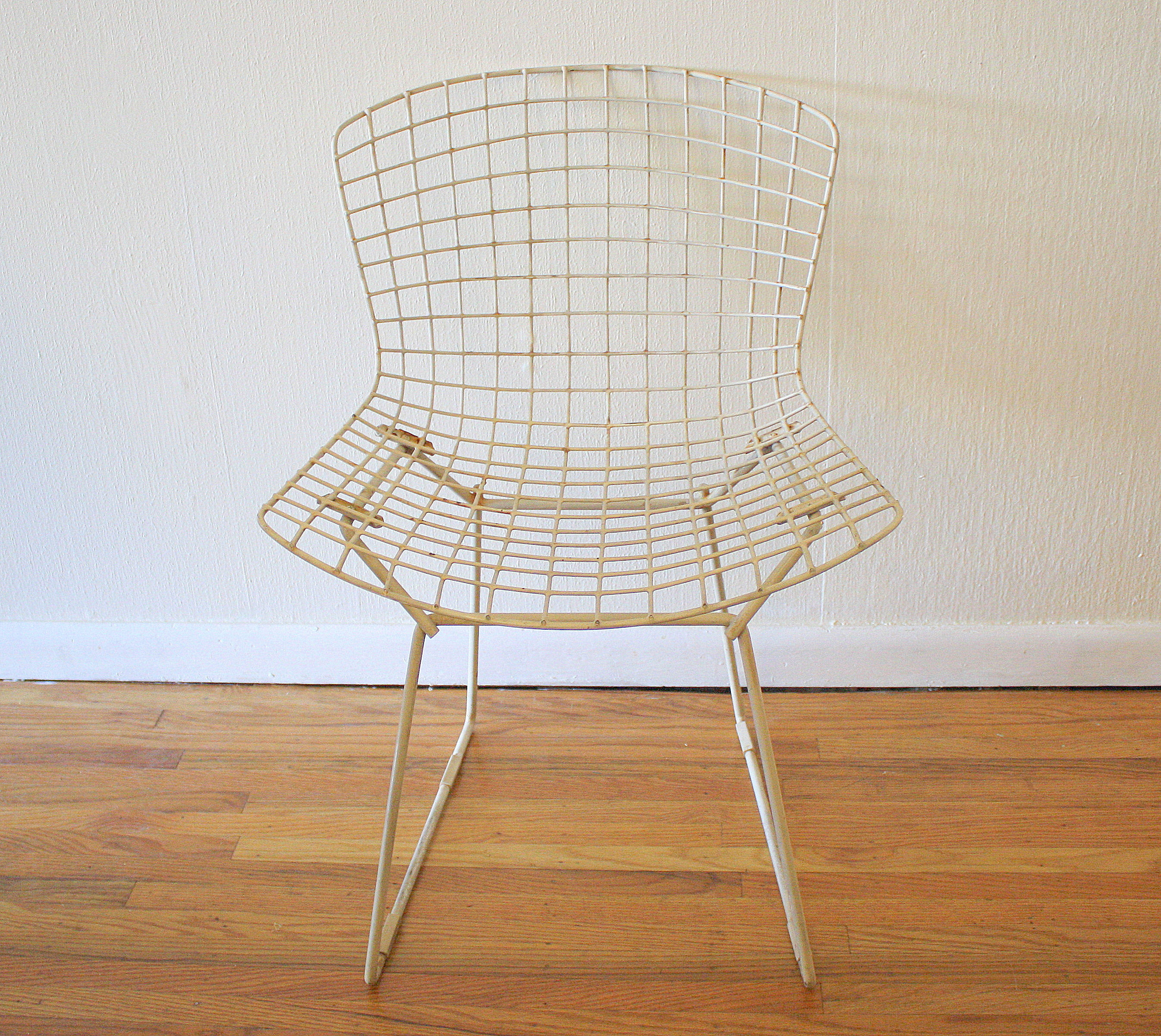 bertoia wire chair original target space saver high chairs for knoll picked vintage