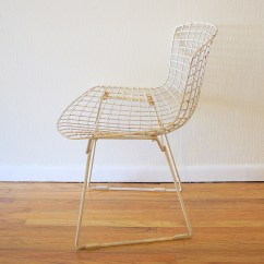 Bertoia Side Chair White Windsor Kitchen Chairs Wire For Knoll Picked Vintage