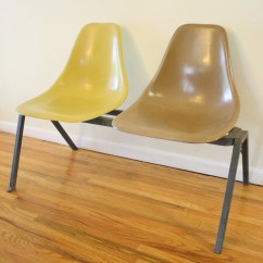 Folding Chair Brands Office Rollerblade Wheels Mid Century Modern Fiberglass Bench & | Picked Vintage