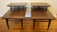 Mid Century Modern 2 Tiered End Tables | Picked Vintage