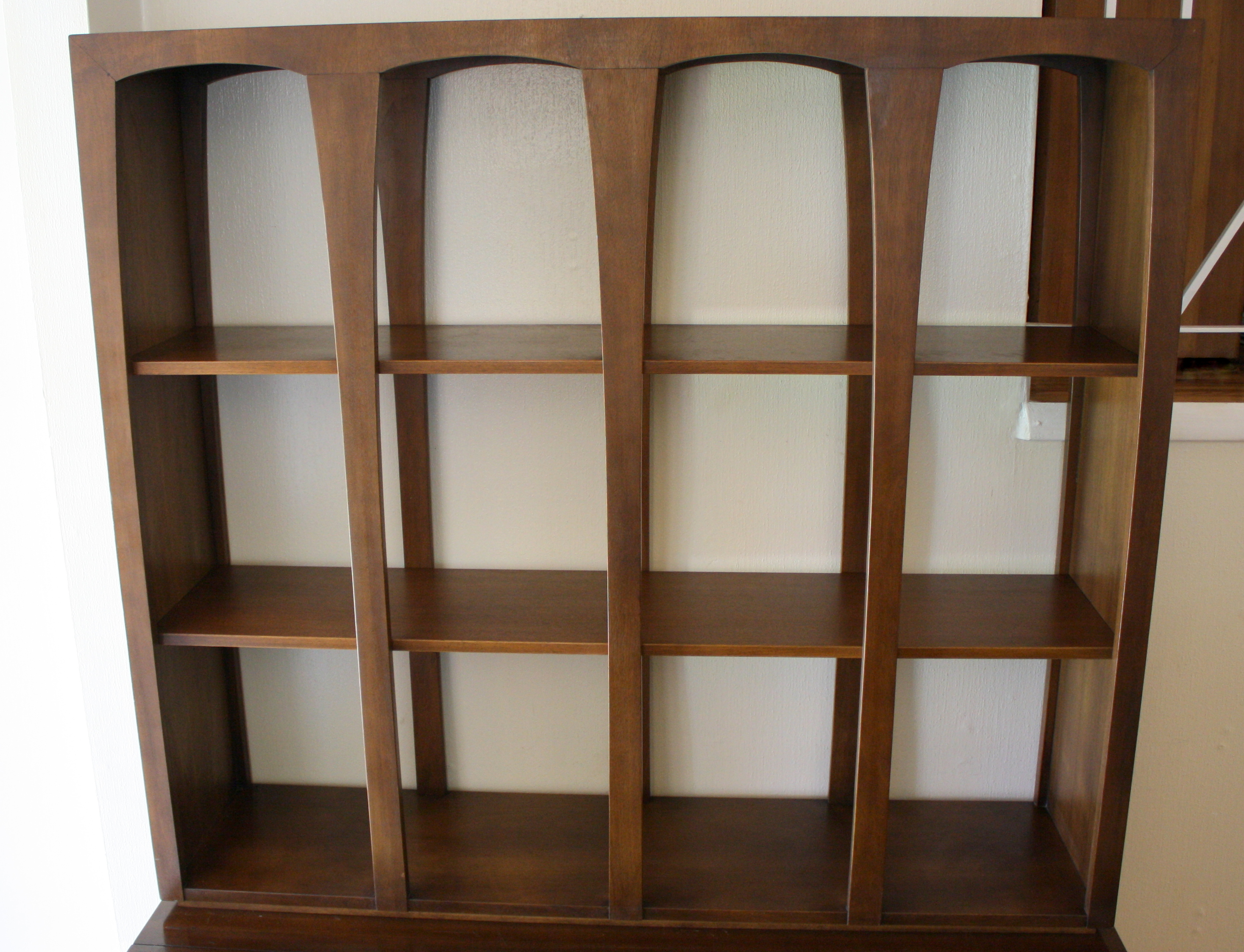 tall folding chairs nailhead dining pottery barn broyhill emphasis room divider bookshelf & credenza | picked vintage