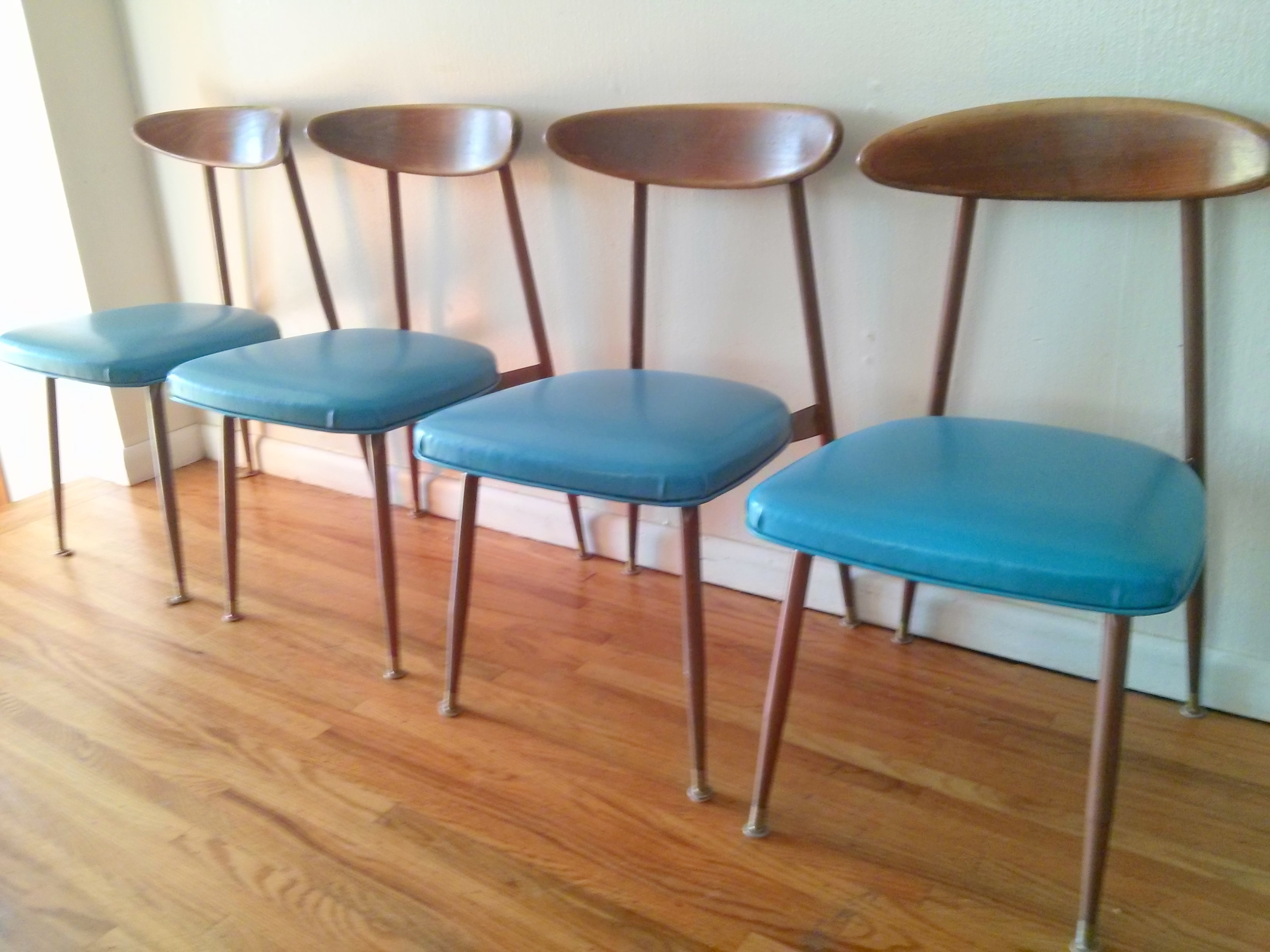 mid century modern kitchen chairs new cabinets cost viko dining table picked vintage set of 4