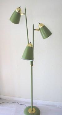 mid century modern lucite floor lamp