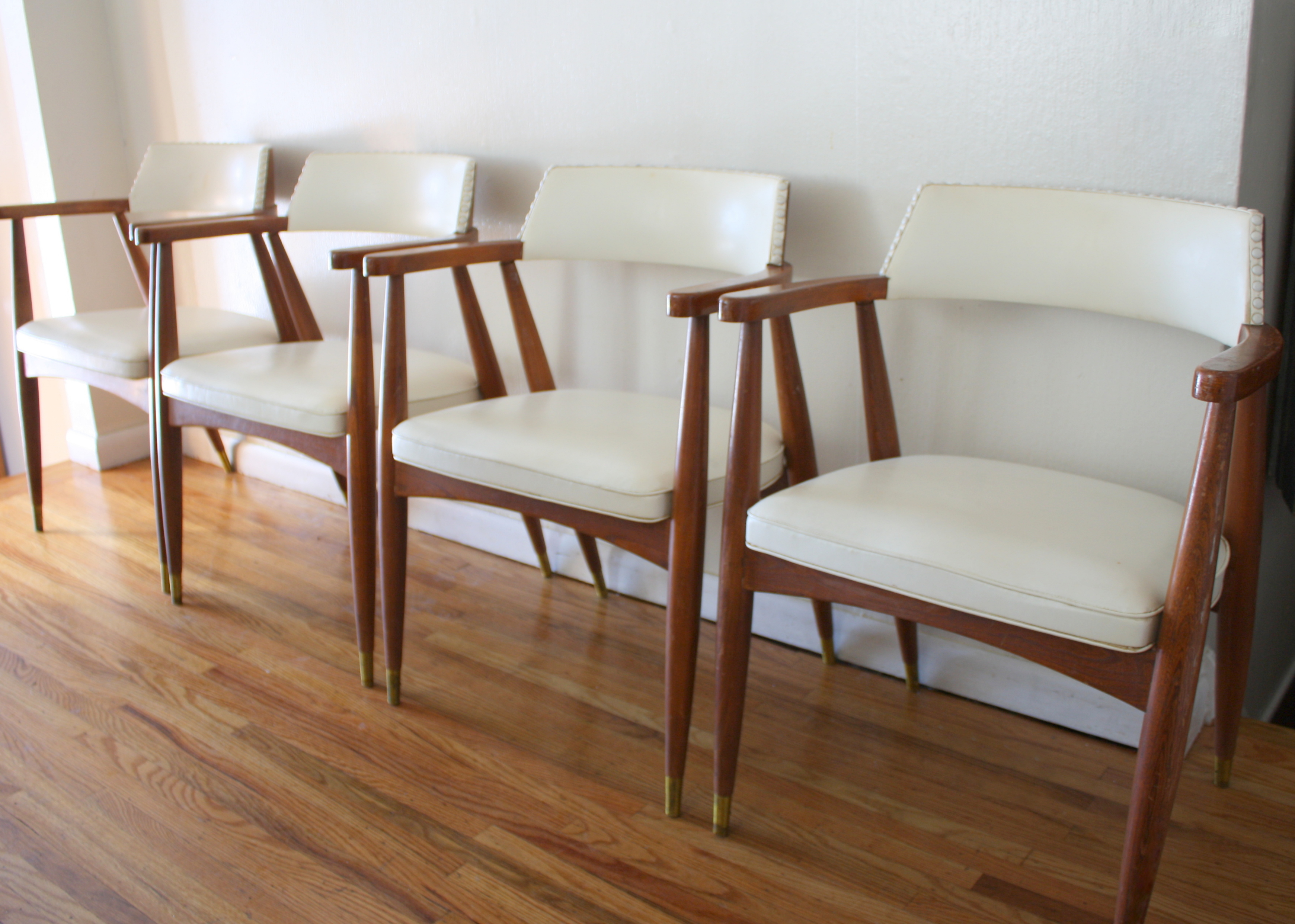 White Barrel Chair Mid Century Modern Arm Chairs Picked Vintage