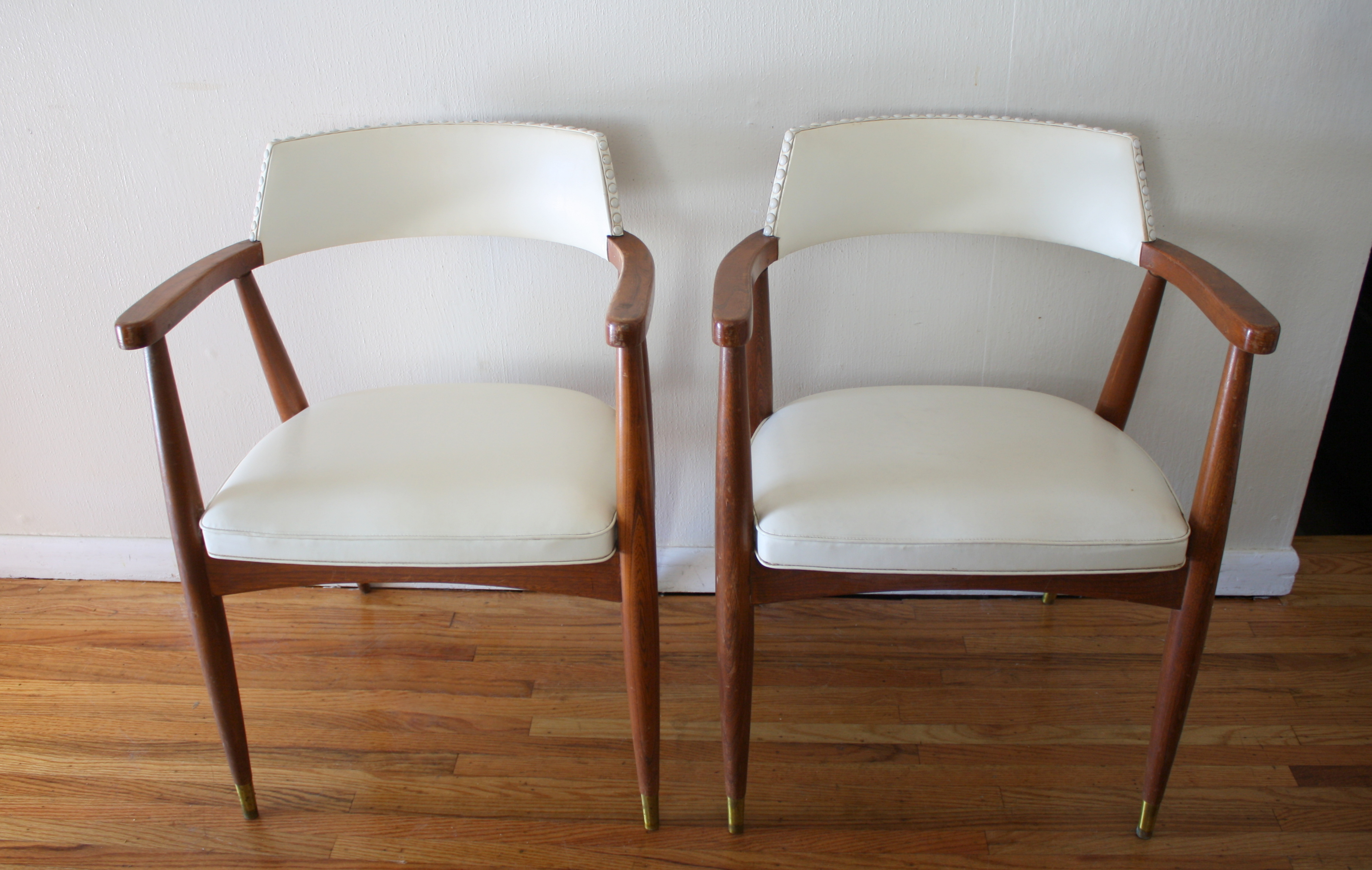 mcm white barrel back chairs 2  Picked Vintage