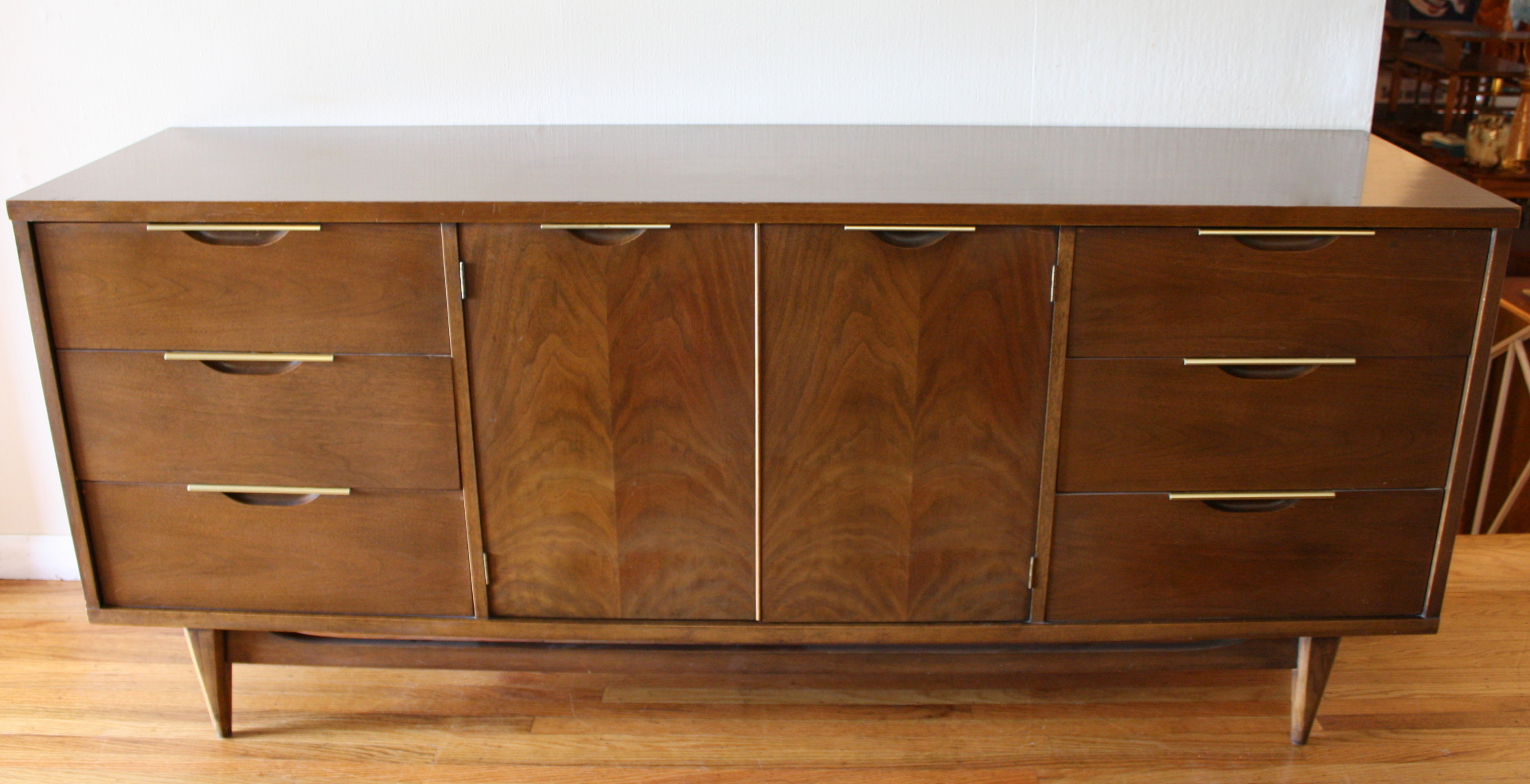 american furniture chairs yellow grey chair mid century modern credenza low dressers | picked vintage