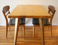 mcm blonde splayed leg dining table 5