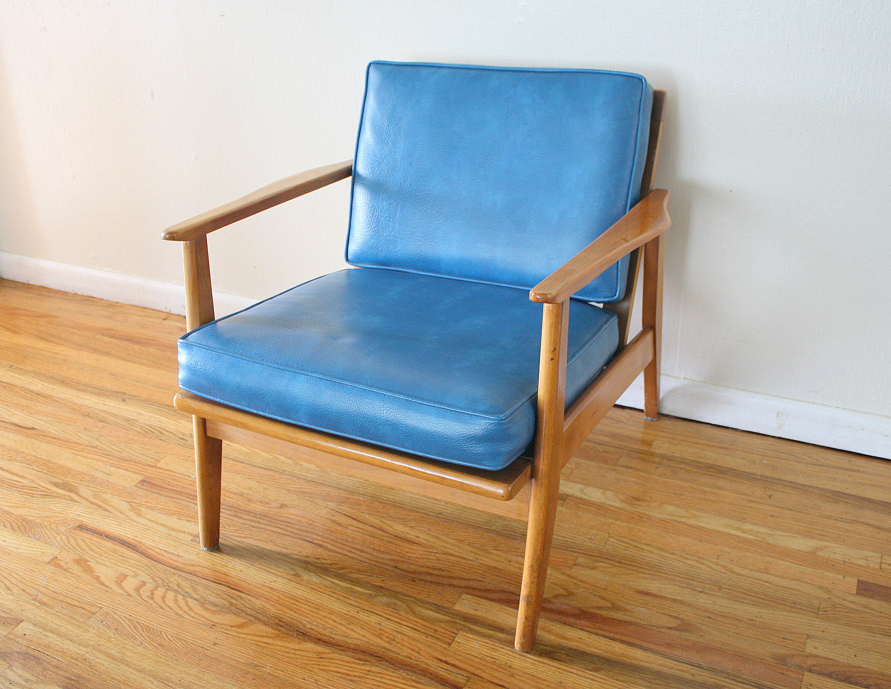 Mcm Chair Mcm Blue Lounge Arm Chair 1 Picked Vintage