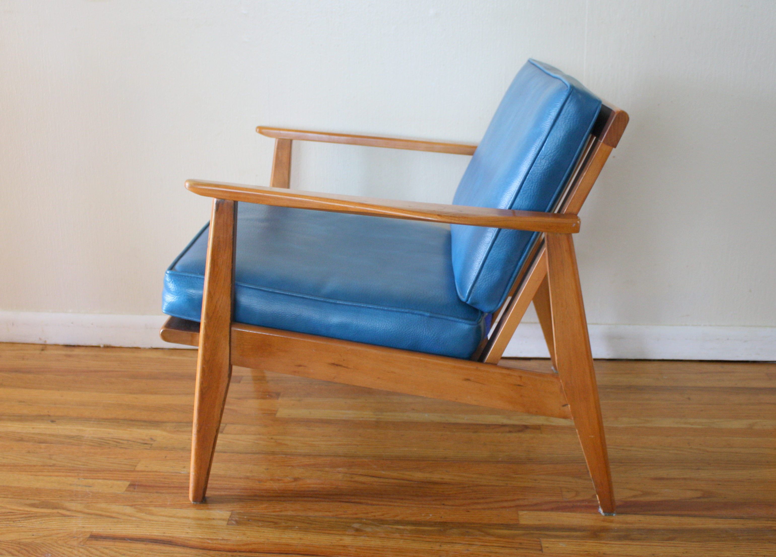 Mcm Chair Mcm Blue Lounge Arm Chair 2 Picked Vintage