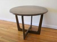 Mid Century Modern Cross Base Side Tables | Picked Vintage