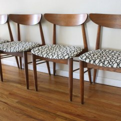 Mid Century Dining Chairs Antique Birthing Chair Value Modern Sets Of Picked Vintage Mcm Curved Back With Circle Seats 1