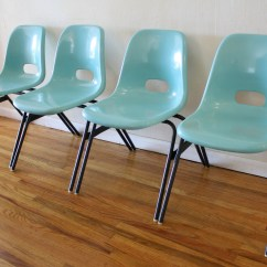Vintage Designer Chairs Cottage Style Dining Room Mid Century Modern Fiberglass Stacking Chair Set Picked