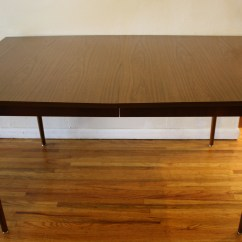 Wood Folding Table And Chairs Striped Sofas Mid Century Modern Surfboard Dining Tables | Picked Vintage