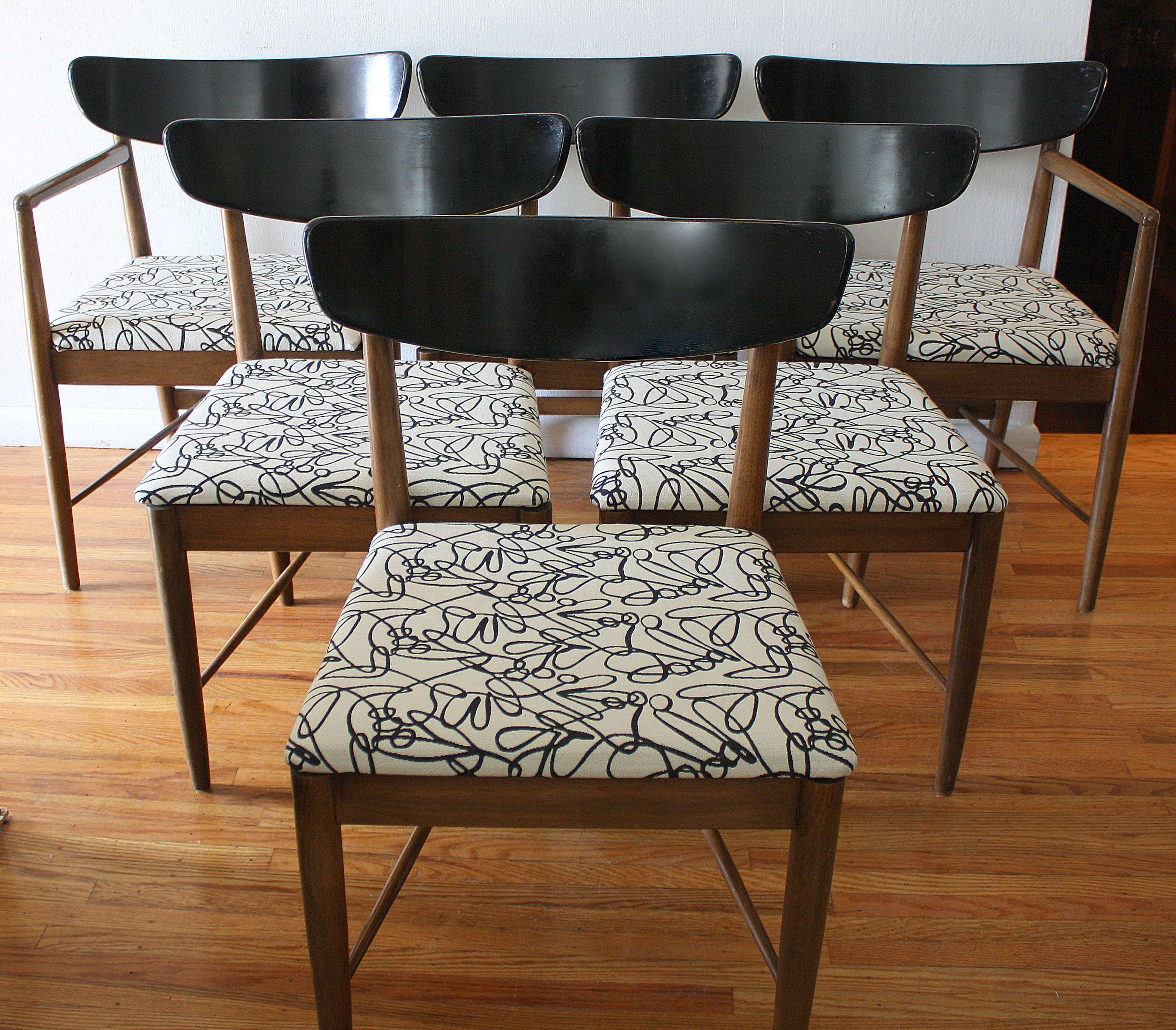 Black And White Chair Mid Century Modern Dining Chair Sets Picked Vintage