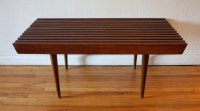 Mid Century Modern Slatted Bench Coffee Tables | Picked ...