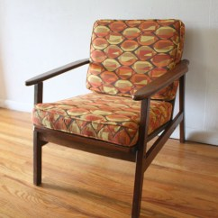 Pillows For Chairs Chair Covers Sale On Ebay Mid Century Modern Arm With Geometric Pattern