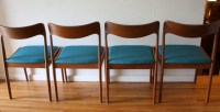 Mid Century Modern Danish Teak Dining Chairs and Folding ...