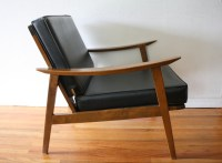 Mid Century Modern Hans Wegner Style Arm Lounge Chairs ...