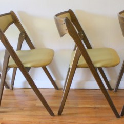 Coronet Folding Chairs White Indoor Rocking Chair 2 Picked Vintage