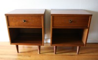 Mid Century Modern Side End Table Nightstands | Picked Vintage