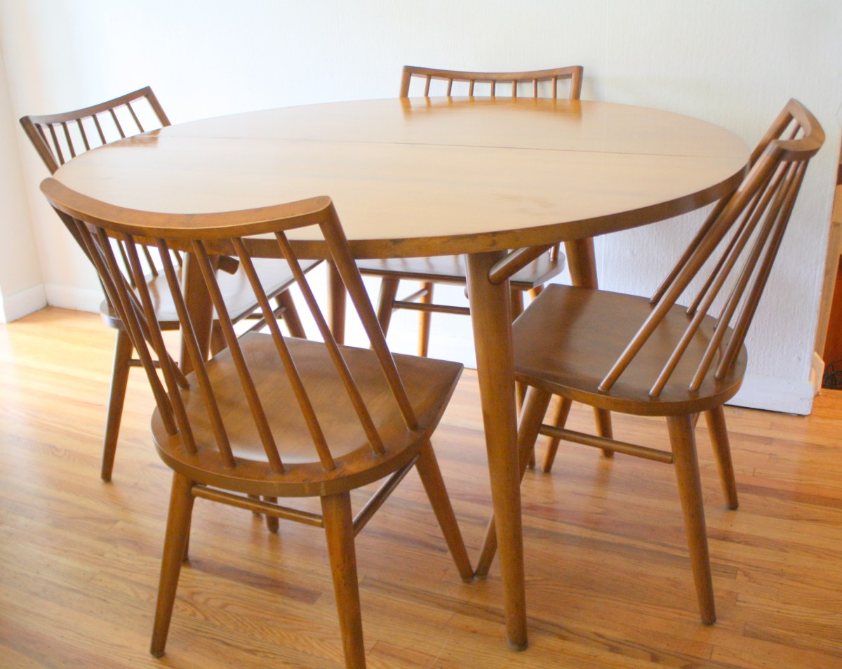 Modern Dining Table And Chairs Mid Century Modern Dining Table And Chairs By Russel